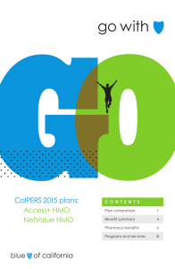 h go with CalPERS 2015 plans: Access+ HMO