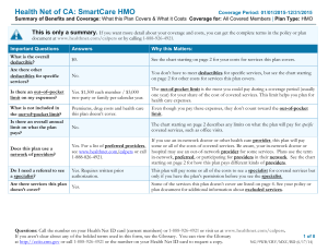 Health Net of CA: SmartCare HMO This is only a summary.