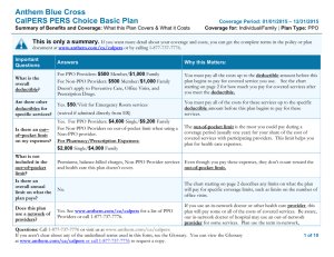Anthem Blue Cross  CalPERS PERS Choice Basic Plan