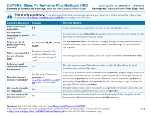 CalPERS: Sharp Performance Plus Medicare HMO