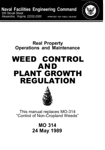 WEED CONTROL AND PLANT GROWTH REGULATION