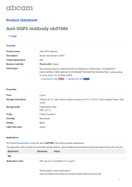 Anti-UGP2 antibody ab57686 Product datasheet 1 Image Overview