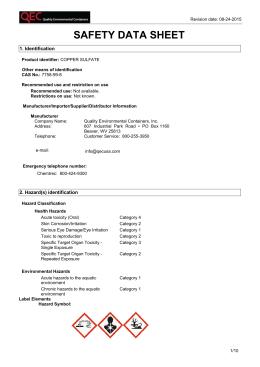Material Safety Data Sheet Avantor Performance Materials