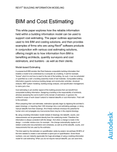 BIM and Cost Estimating