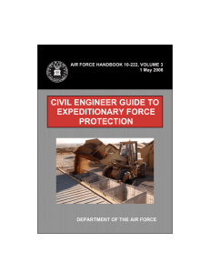 CIVIL ENGINEER GUIDE TO EXPEDITIONARY FORCE PROTECTION DEPARTMENT OF THE AIR FORCE