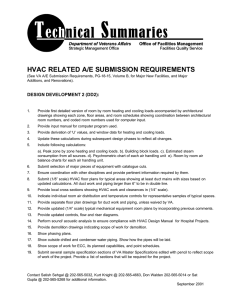 HVAC RELATED A/E SUBMISSION REQUIREMENTS