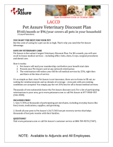 LACCD Pet Assure Veterinary Discount Plan