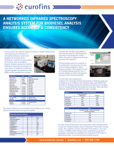 A NETWORKED INFRARED SPECTROSCOPY ANALYSIS SYSTEM FOR BIODIESEL ANALYSIS