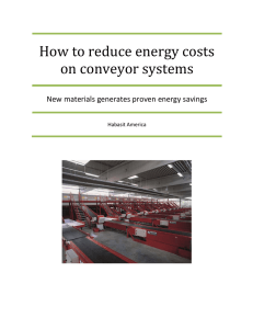 How to reduce energy costs on conveyor systems Habasit America