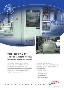 T H E   H E L O V...  ADDITIONAL AIRBAG MODULE FOR EXTRA SENSITIVE GOODS