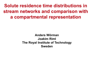 Solute residence time distributions in stream networks and comparison with