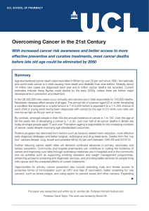 Overcoming Cancer in the 21st Century