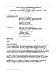College of Public Health & Health Professions PHC 6515 Section 706B