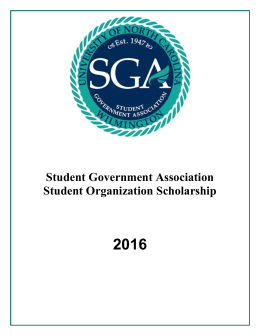 2016  Student Government Association Student Organization Scholarship
