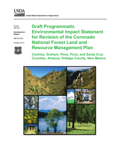 Draft Programmatic Environmental Impact Statement for Revision of the Coronado