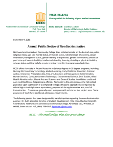 Annual Public Notice of Nondiscrimination