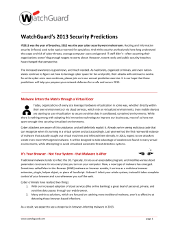 WatchGuard's 2013 Security Predictions