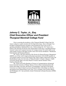 Johnny C. Taylor, Jr., Esq. Chief Executive Officer and President