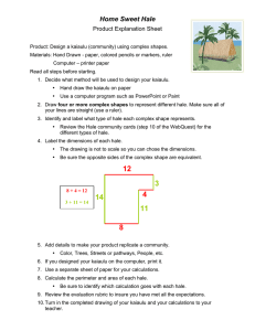 Home Sweet Hale Product Explanation Sheet