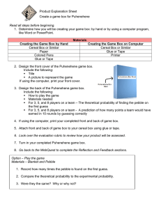 Product Explanation Sheet Create a game box for Puhenehene