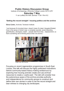 Public History Discussion Group Saturday 7 May