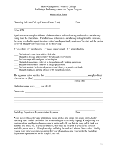 Horry-Georgetown Technical College Radiologic Technology Associate Degree Program  Observation Form