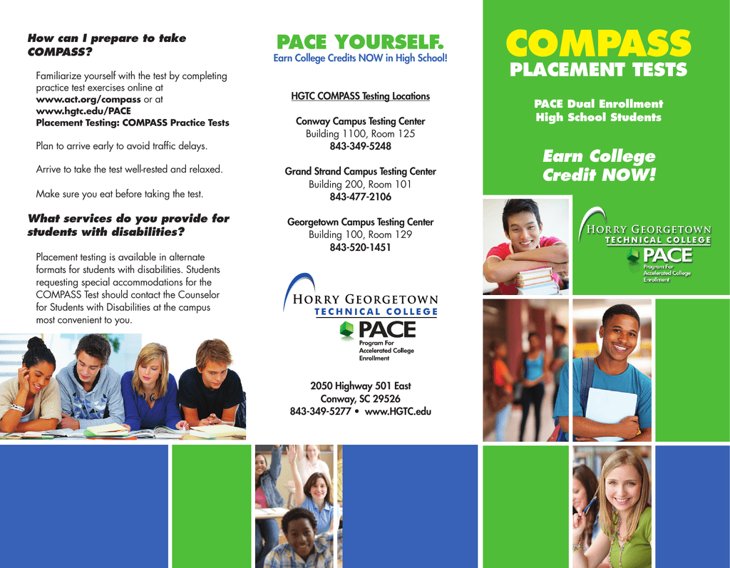 Hgtc Grand Strand Campus Map.Compass Pace Yourself Placement Tests