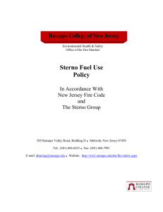 Sterno Fuel Use Policy .