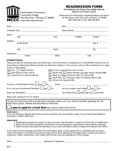 Readmission FoRm