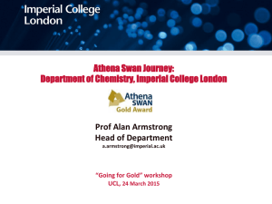 Athena Swan Journey: Prof Alan Armstrong Head of Department