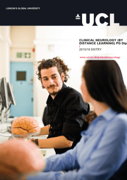 CLINICAL NEUROLOGY (BY DISTANCE LEARNING) PG Dip / 2015/16 ENTRY