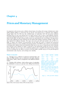 Prices and Monetary Chapter 4
