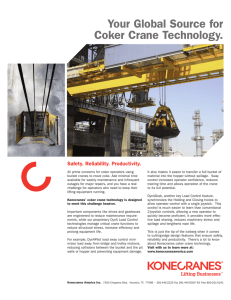 Your Global Source for Coker Crane Technology. Safety. Reliability. Productivity.
