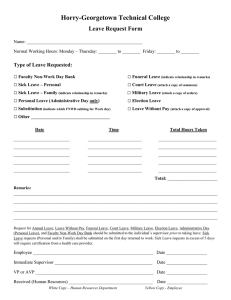 Horry-Georgetown Technical College Leave Request Form