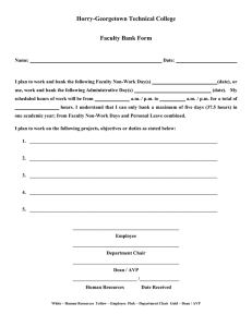 Horry-Georgetown Technical College  Faculty Bank Form