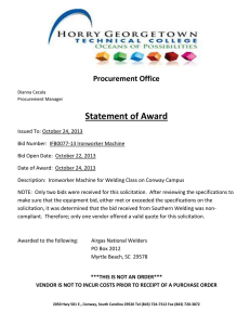 Statement of Award Procurement Office