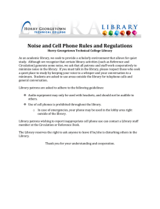 Noise and Cell Phone Rules and Regulations