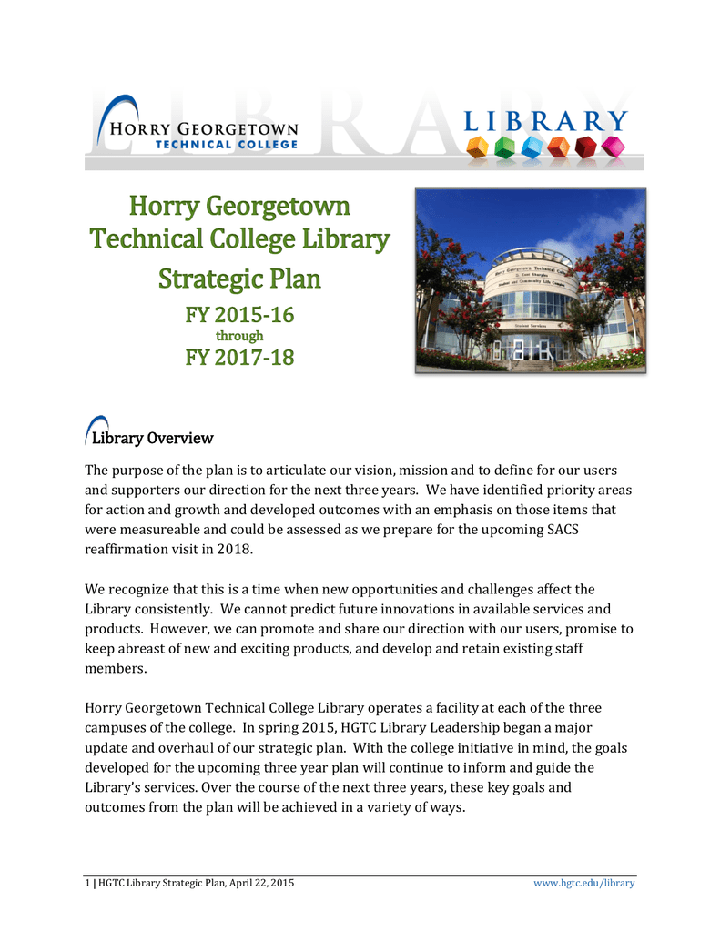 Hgtc Campus Map.Horry Georgetown Technical College Library Strategic Plan Fy 2015 16
