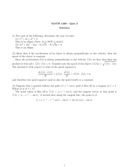 MATH 1260 - Quiz 3 Solution (a) x