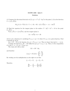 MATH 1260 - Quiz 6 Solution +y