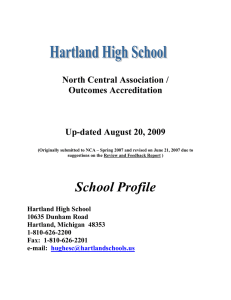 North Central Association / Outcomes Accreditation  Up-dated August 20, 2009