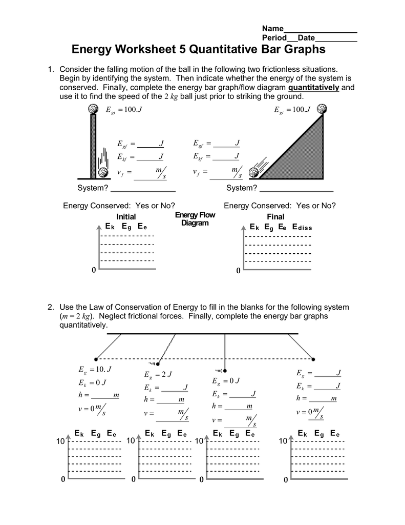 Energy Worksheet 5 Quantitative Bar Graphs