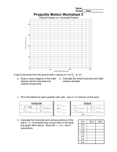 Projectile Motion Worksheet 5