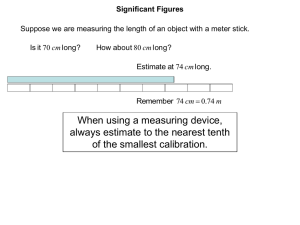 When using a measuring device, always estimate to the nearest tenth