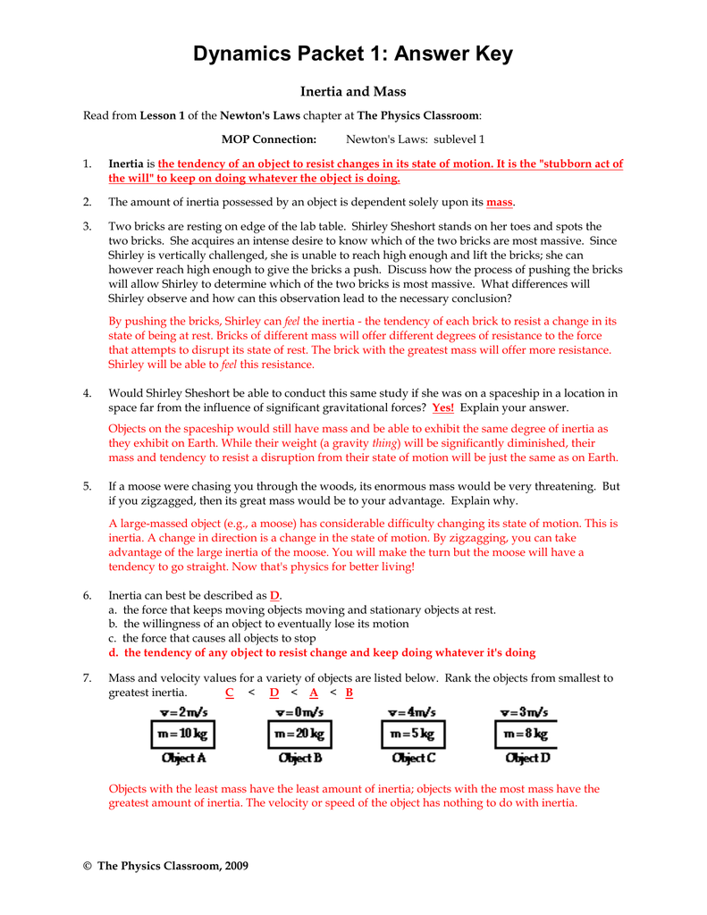 laws of motion worksheet pdf