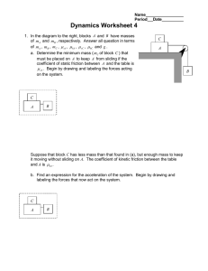 Dynamics Worksheet 4