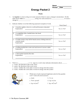 Printables of Energy Worksheet The Physics Classroom - Geotwitter ...