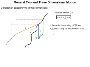 General Two and Three Dimensional Motion   