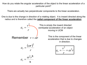 How do you relate the angular acceleration of the object... particular point?