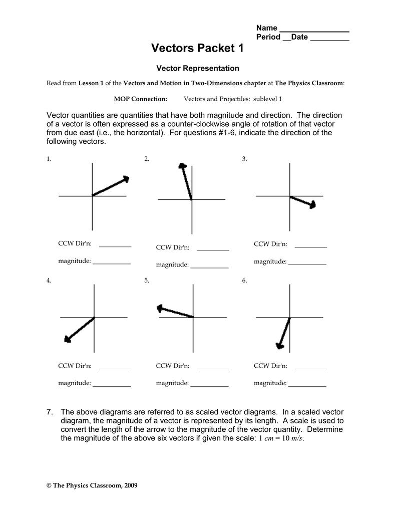 Vectors Packet 1